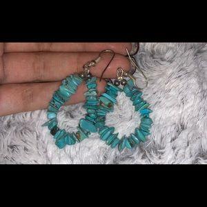 Handmade turquoise earrings!